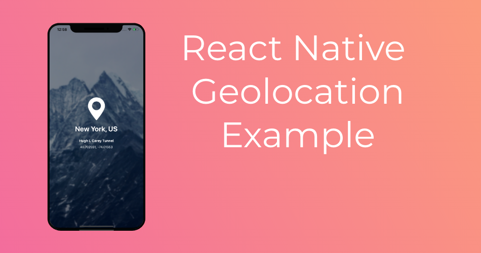 React Native Geolocation Example