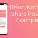 React Native Share Posts Example Featured