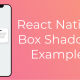 React Native Box Shadow Example Featured