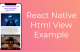 react native html view example featured
